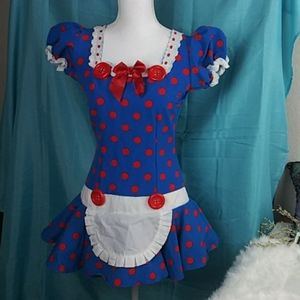 Leg Avenue Junior Polka Dot Costume Dress SZ Jr. L